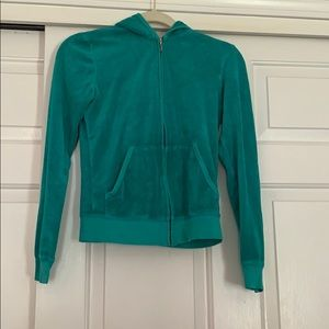 Turquoise juicy zip up